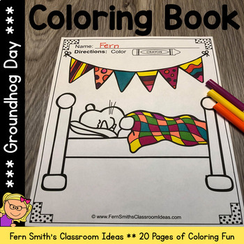 Coloring Pages for Groundhog Day