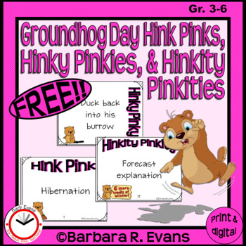 CRITICAL THINKING -- Groundhog Day Hink Pinks, et al.