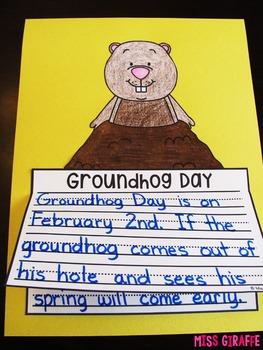 Groundhog Day Writing Craft Activity NO PREP