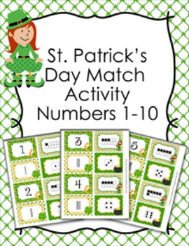 St. Patricks Day Number Match Activity