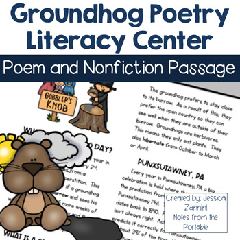 Groundhog Day Poetry Literacy Center