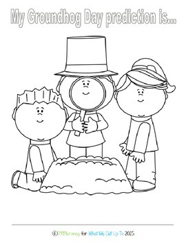 Groundhog Day Prediction Coloring Sheet