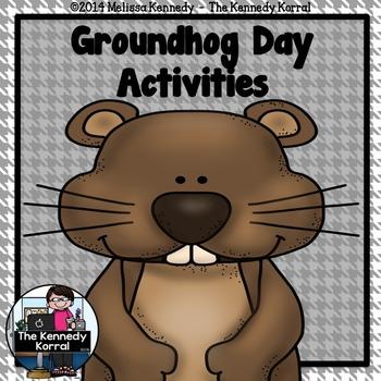 Groundhog Day Activities  {Class Prediction Activity, Grap