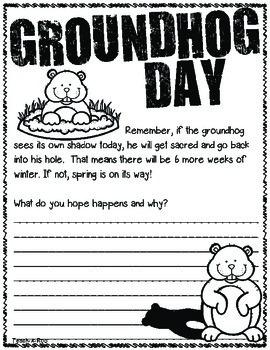 Groundhog Day Quick Write Freebie!