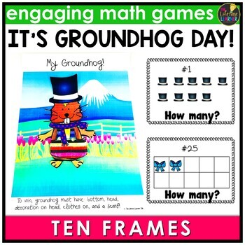 Groundhog Day Counting With Ten Frames Game