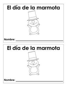 Groundhog Day Spanish Book - Librito del dia de la marmota