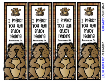 Groundhog Day Themed Bookmarks