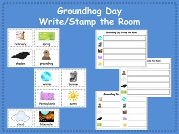 Groundhog Day Write and Stamp the Room