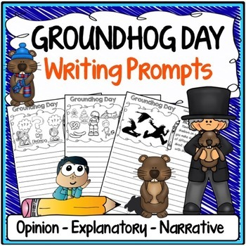 Groundhog Day Writing Prompts {Narrative Writing, Informat