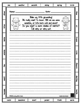 Groundhog Day Writing FREEBIE!  ~  Print and Write