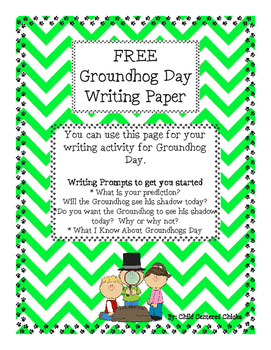 FREE Groundhog Day Writing Paper
