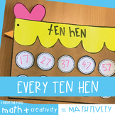 Ten Hen {Counting Off the Decade by Tens Craft}
