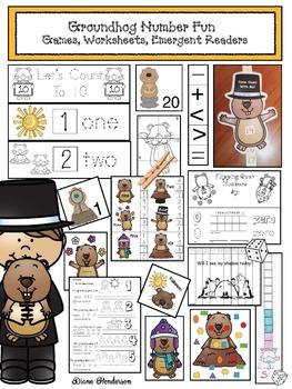 Groundhog Number Fun: Games, Worksheets, Emergent Readers