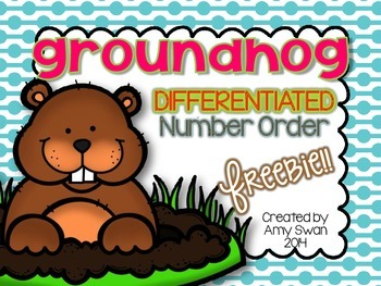 Groundhog Differentiated Number Ordering FREEBIE math stat