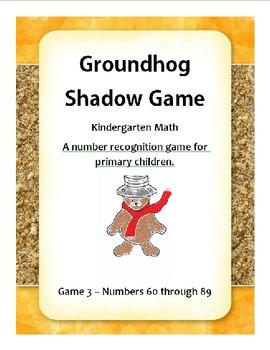 Groundhog Number Recognition 3 - Kindergarten Math