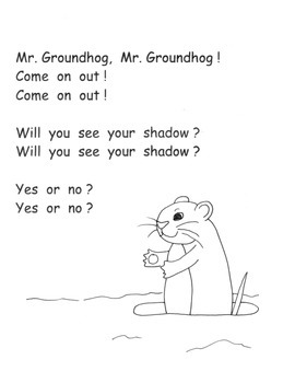Groundhog Day Activity Poem Song Puppet High Frequency Word Work