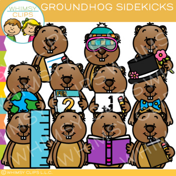 Sidekicks Groundhog Clip Art
