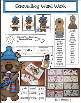 Groundhog-Themed Word Work Activities: GR Blend, Compound