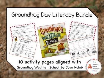 Groundhog Weather School Activity Bundle