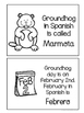 Groundhog day ~ El día de la marmota activity flip book