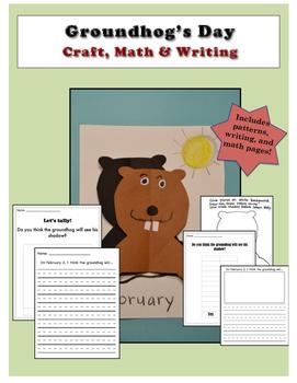 Groundhog Day Craft, Writing, and Math