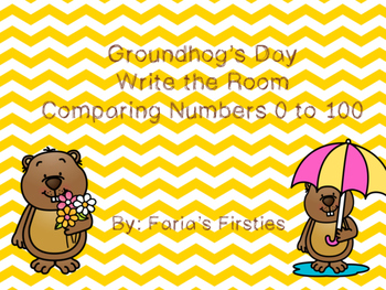 Groundhog's Day Greater Than Less Than Write the Room