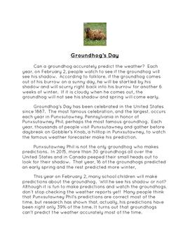Groundhog's Day Literature Unit