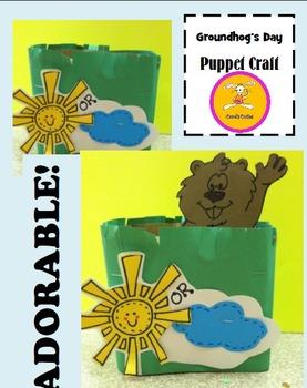 Groundhog Day Craft Puppet