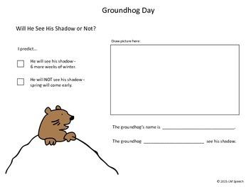 Groundhog Day Worksheet
