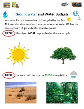 Groundwater, Soils, and the Water Budget (2 Levels Differe