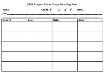 Group Assessment Form