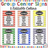Group Center Signs Rainbow Chevron (editable)