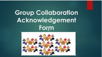 Group Collaboration Acknowledgement Form (Forever Free Product)