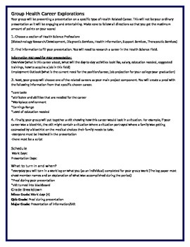 Group Health Career Explorations Presentation