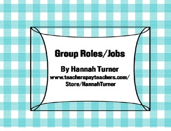 Group Jobs (Roles)