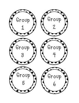 Group Labels - polka dot design