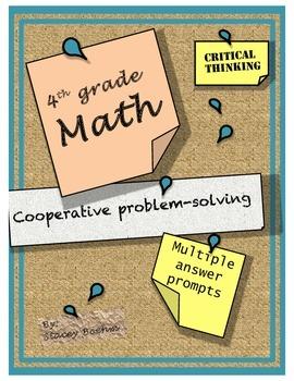 Group Math Story Problems grade 4-6