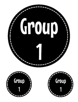 Group/Table Numbers