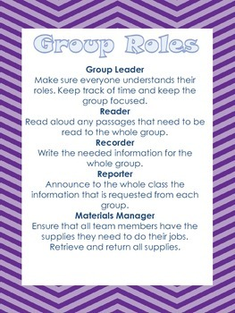 Group Roles Print Out