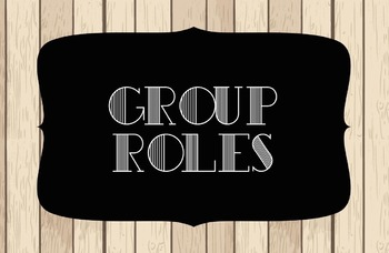 Group Roles Shiplap Posters