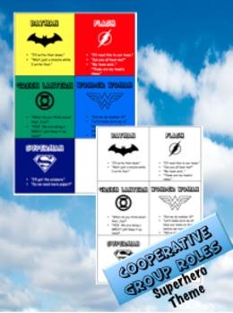 Group Roles - Superhero Theme