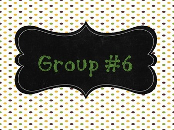 Group # Signs - Full and Qtr Sheets (Grn,Brwn,Ylw theme)