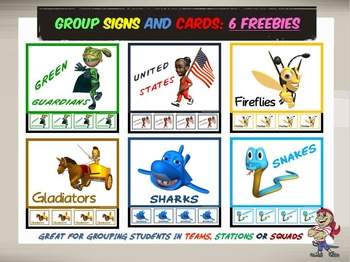 Group Signs and Cards: 6 Freebies