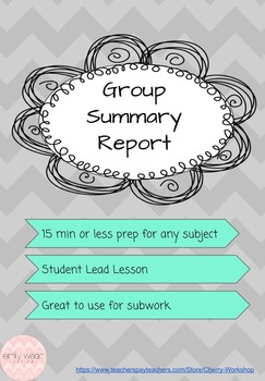 Group Summary Report