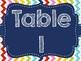 Rainbow Chevron Group & Table Signs (Rainbow)