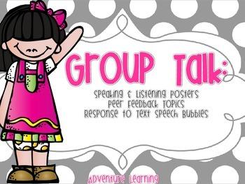 Group Talk: Speaking & Listening Posters with Peer Feedbac