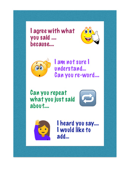 Group work sentence starters