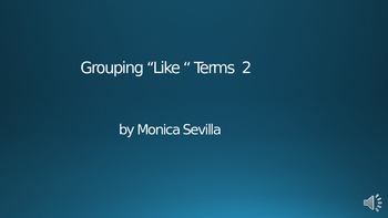 Grouping Like Terms 2 Powerpoint