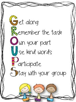 Groups Poster {Freebie}