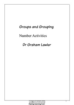 Groups and grouping Number Activities